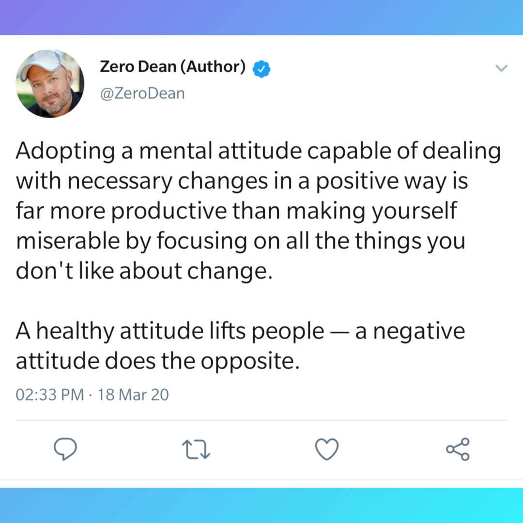 A healthy attitude lifts people