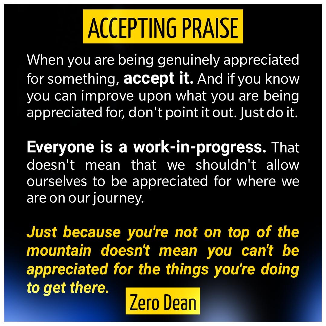 Accepting praise