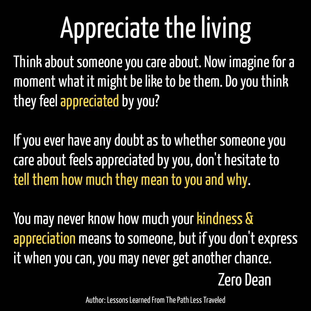 Appreciate the living