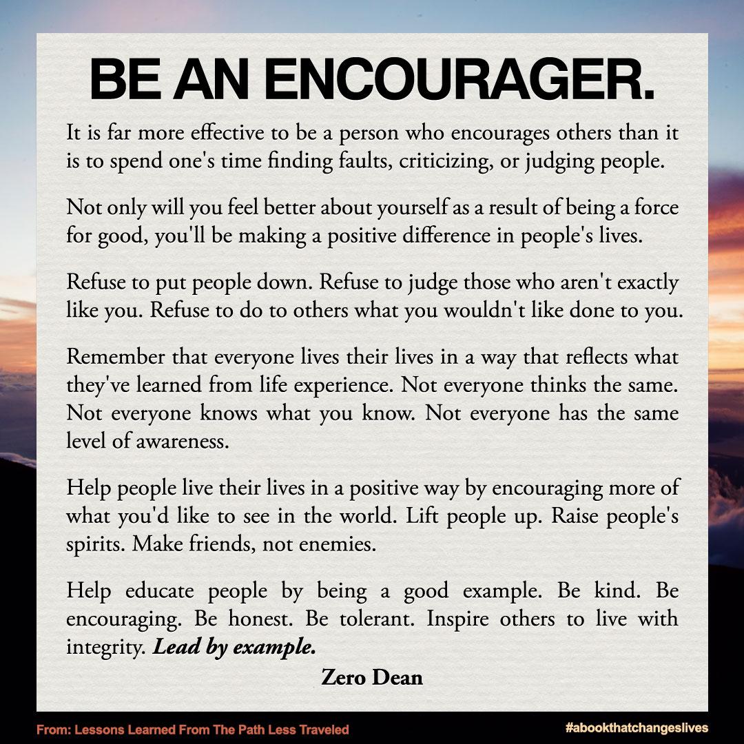 be-an-encourager-zero-dean