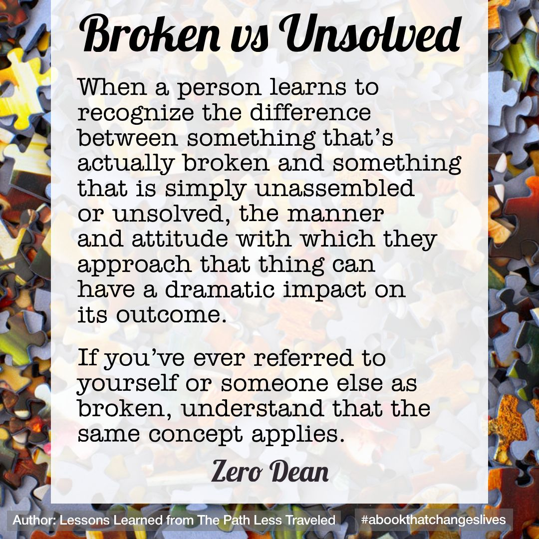 Broken vs unsolved