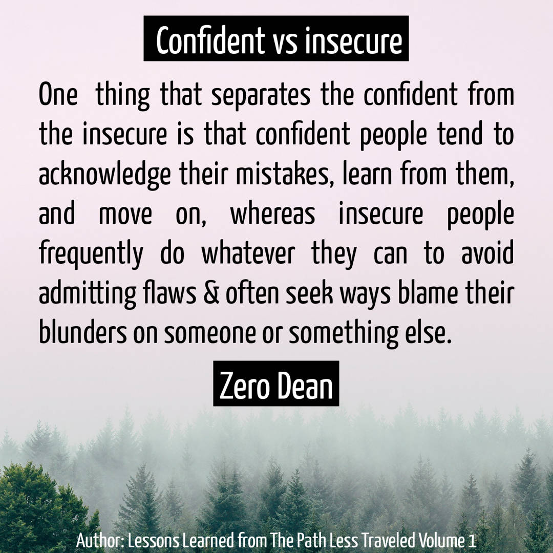 Confident vs insecure