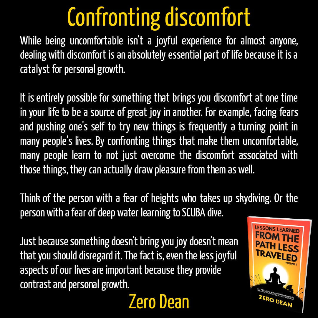 Confronting discomfort