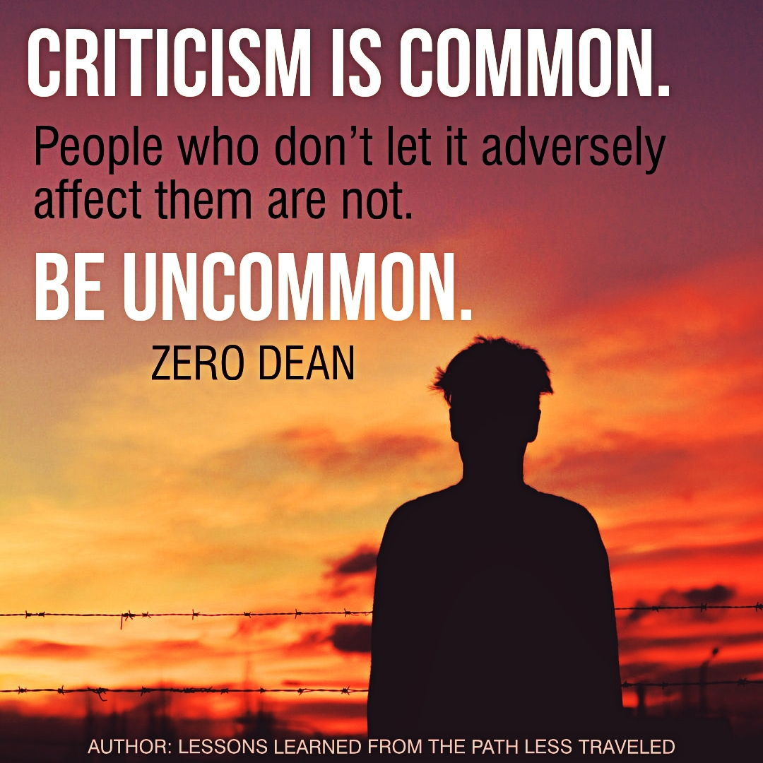 Criticism is common