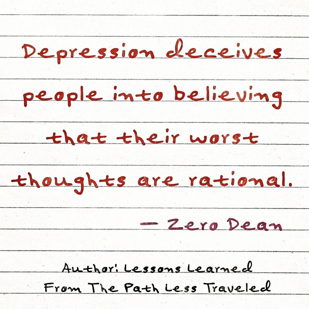 Depression deceives