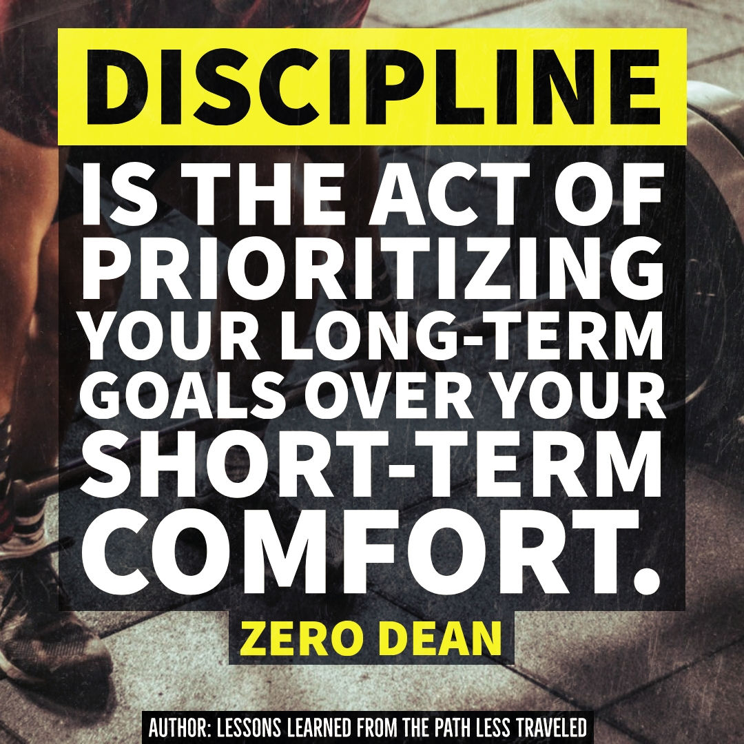 Discipline is the act of...