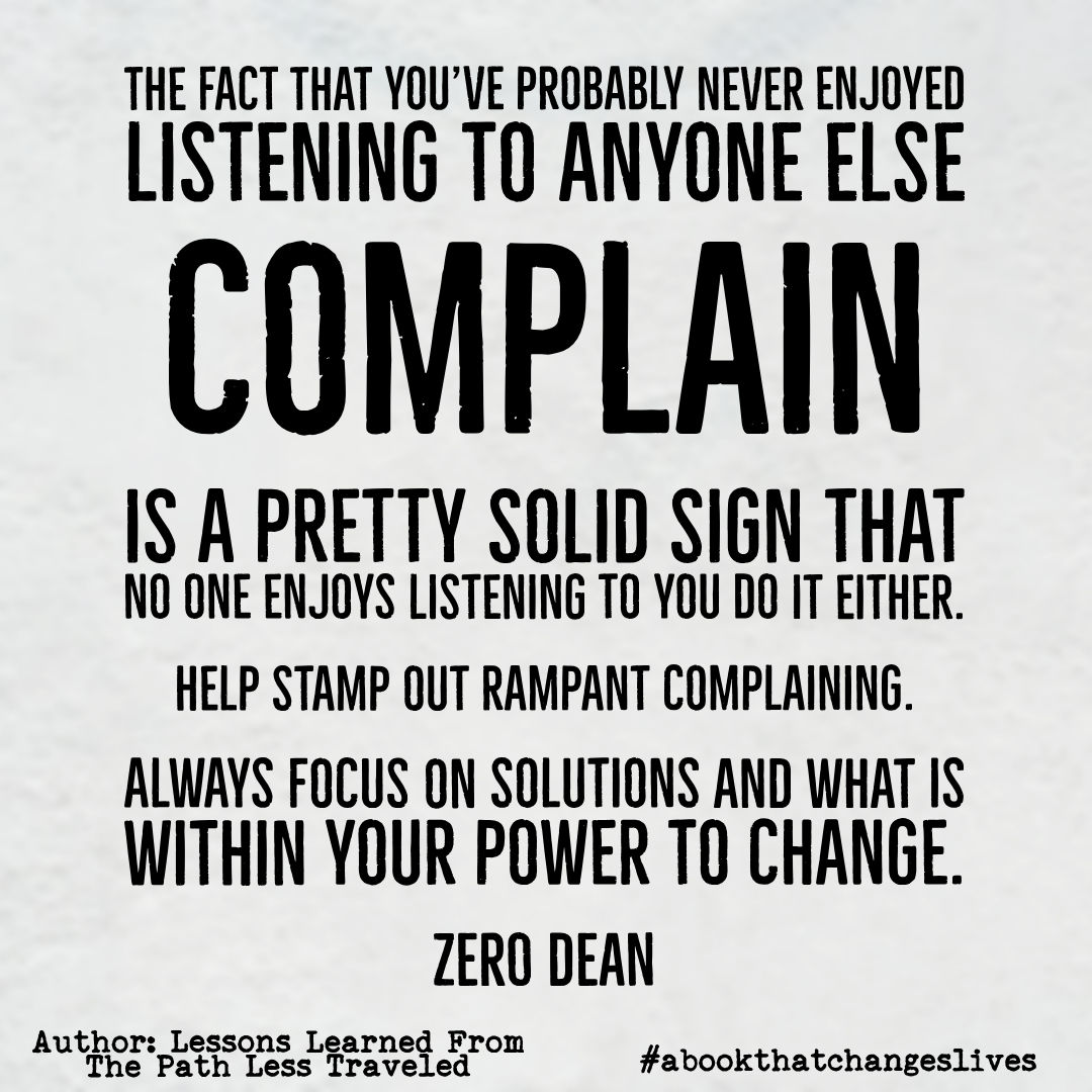 Help stamp out rampant complaining.