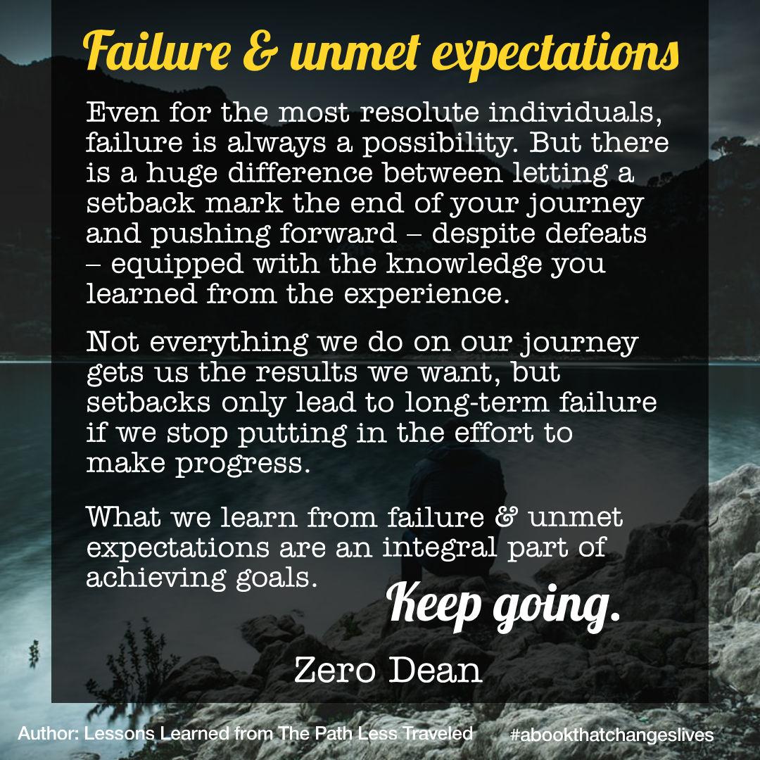 Failure & unmet expectations