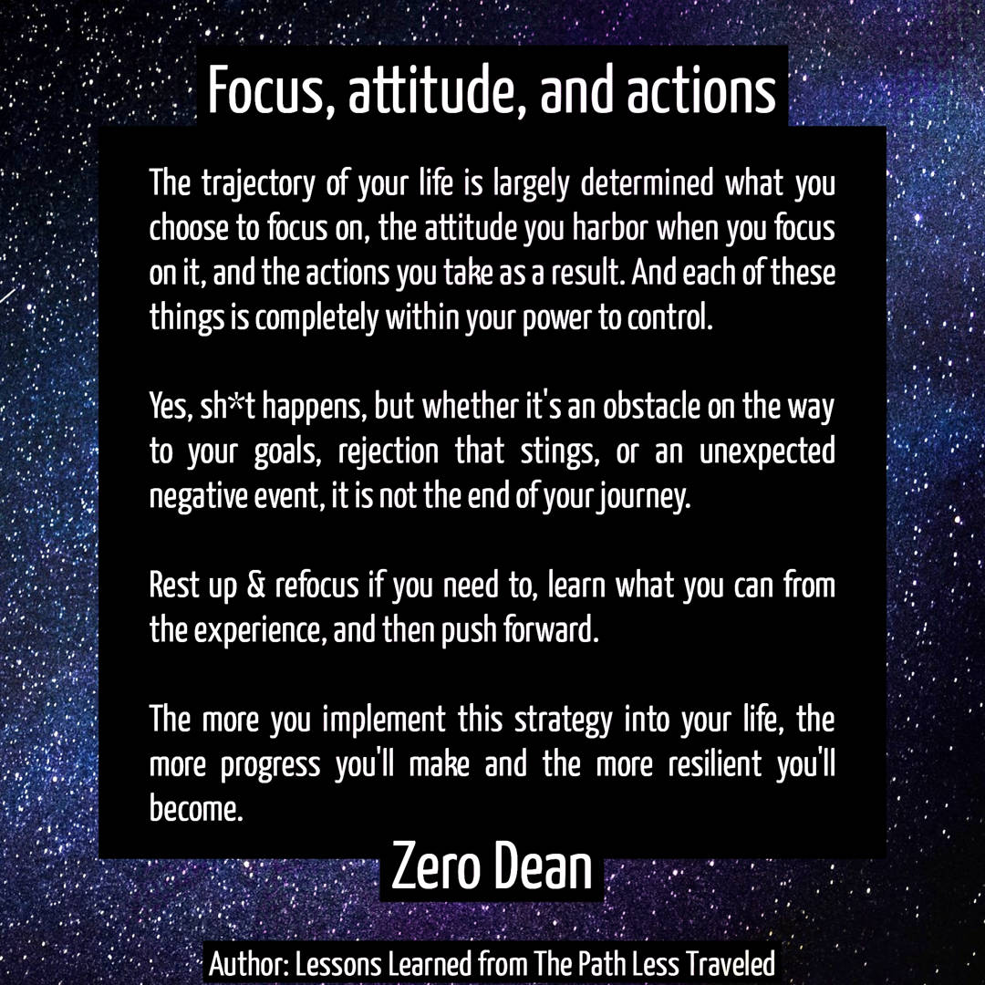 Focus, attitude, and actions