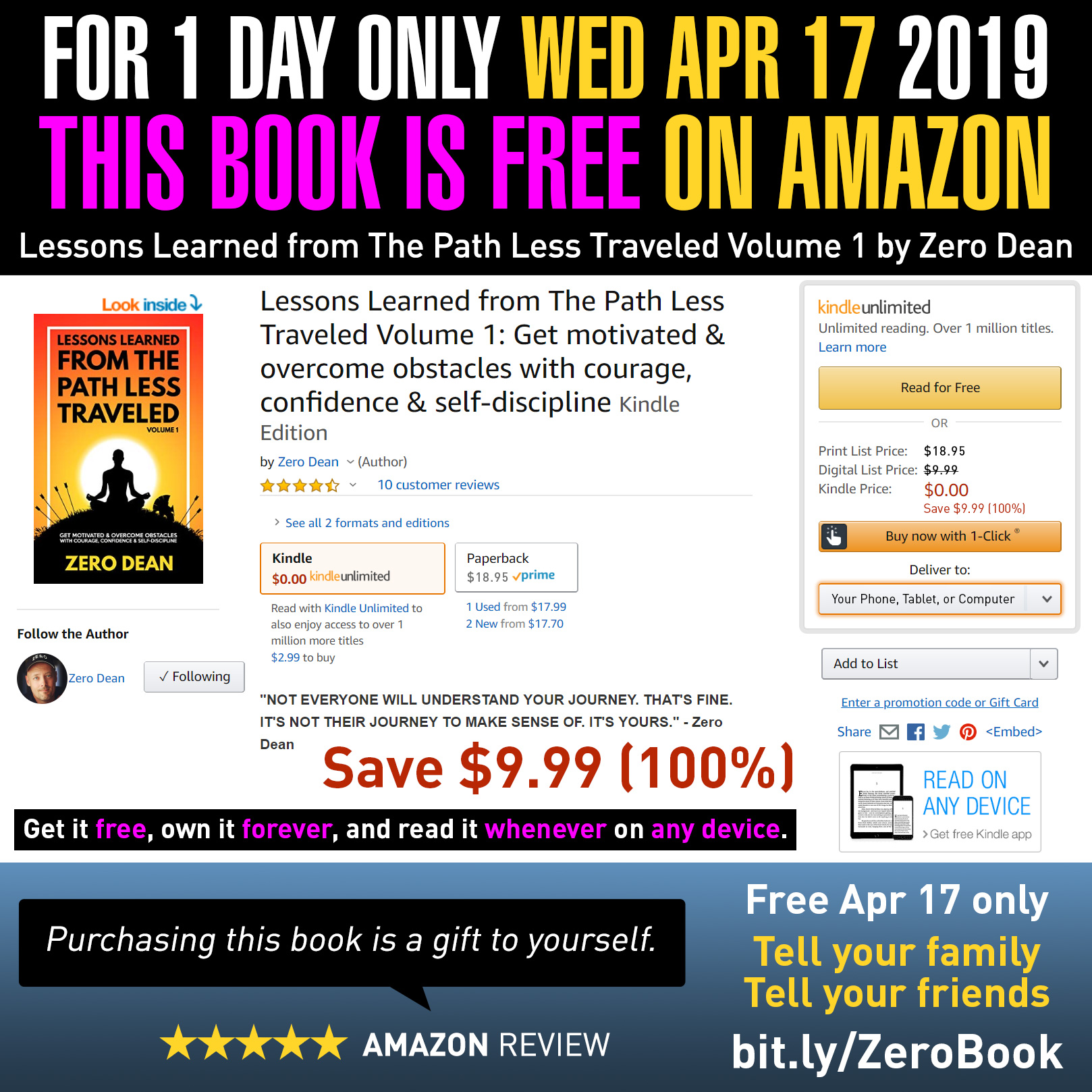 My book is free on Amazon today (4/17) only