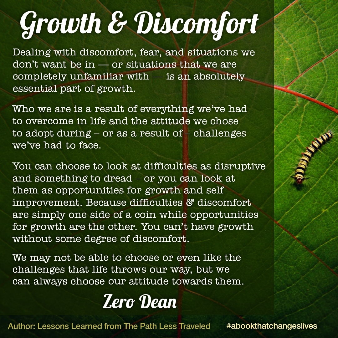 Growth and Discomfort : Getting outside of your comfort zone