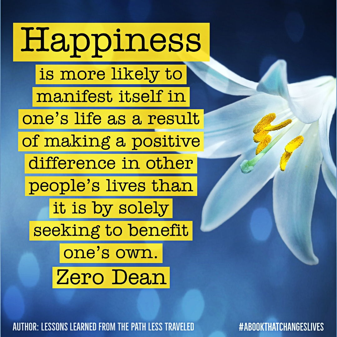 Happiness is more likely to manifest itself...