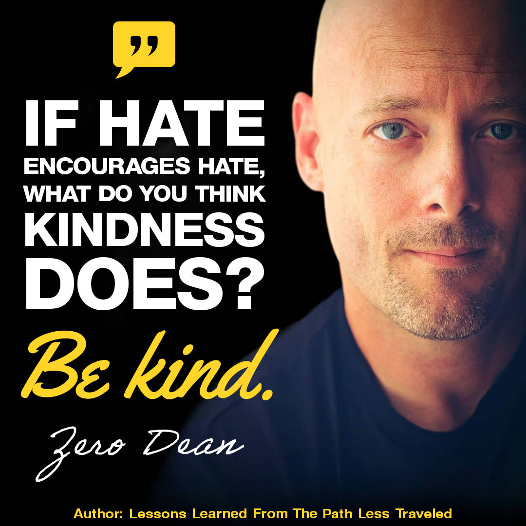 If hate encourages hate...