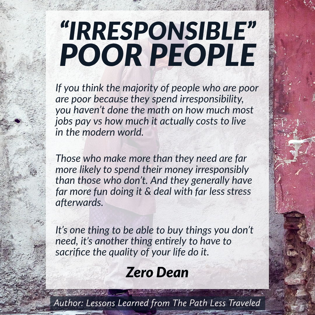 """Irresponsible"" poor people"