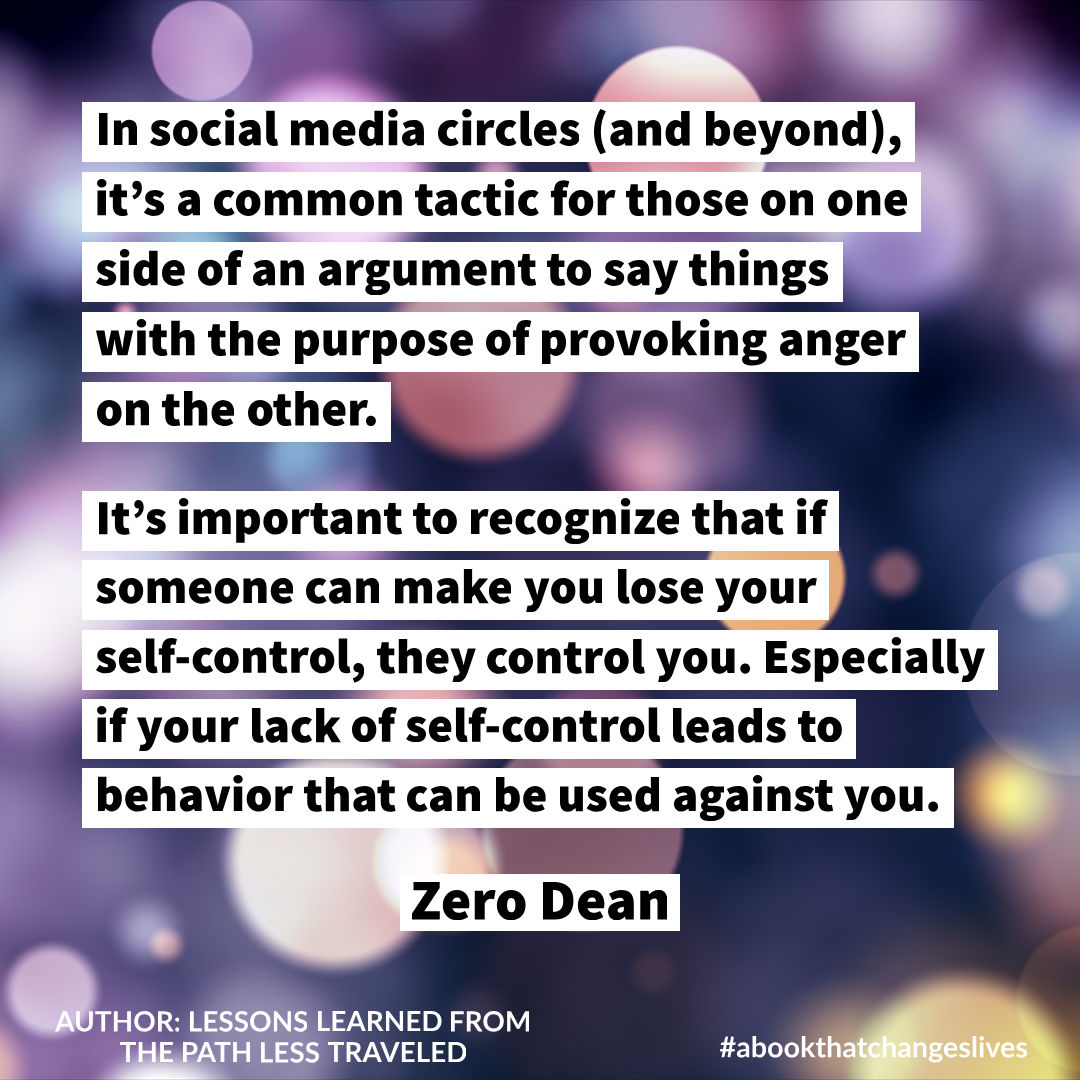 Maintain your self-control