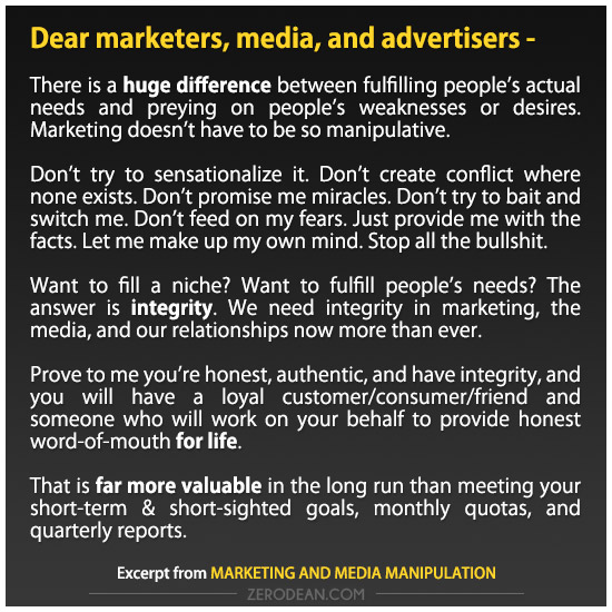 Marketing and media manipulation