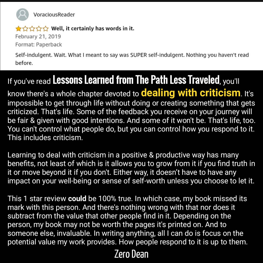 My first one star review (and a lesson on criticism)