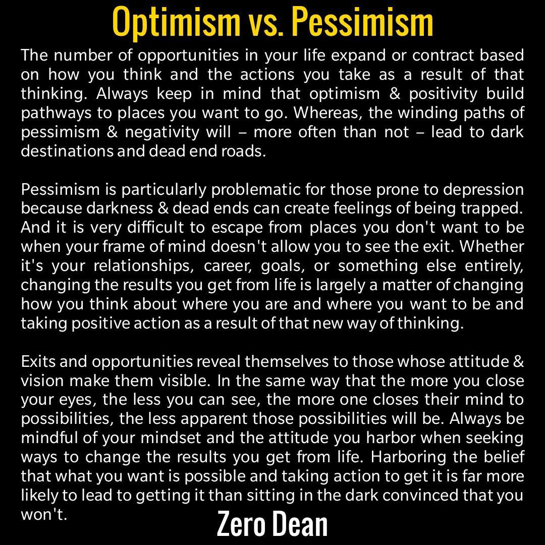 Optimism vs Pessimism
