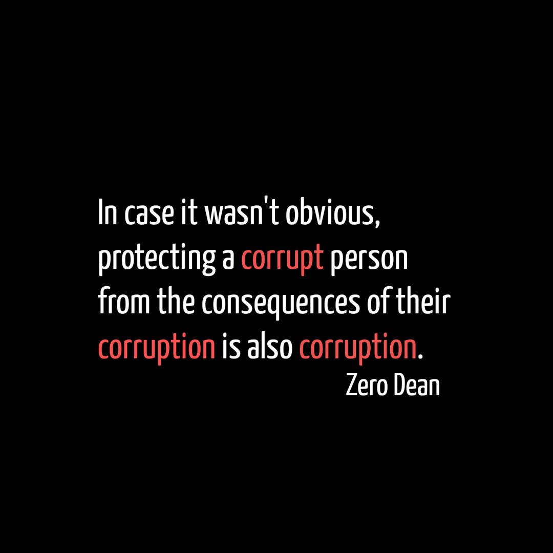 Consequences of corruption