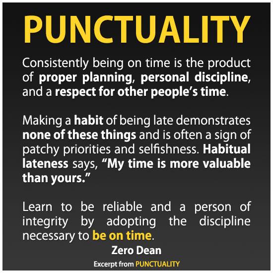 punctuality-zero-dean