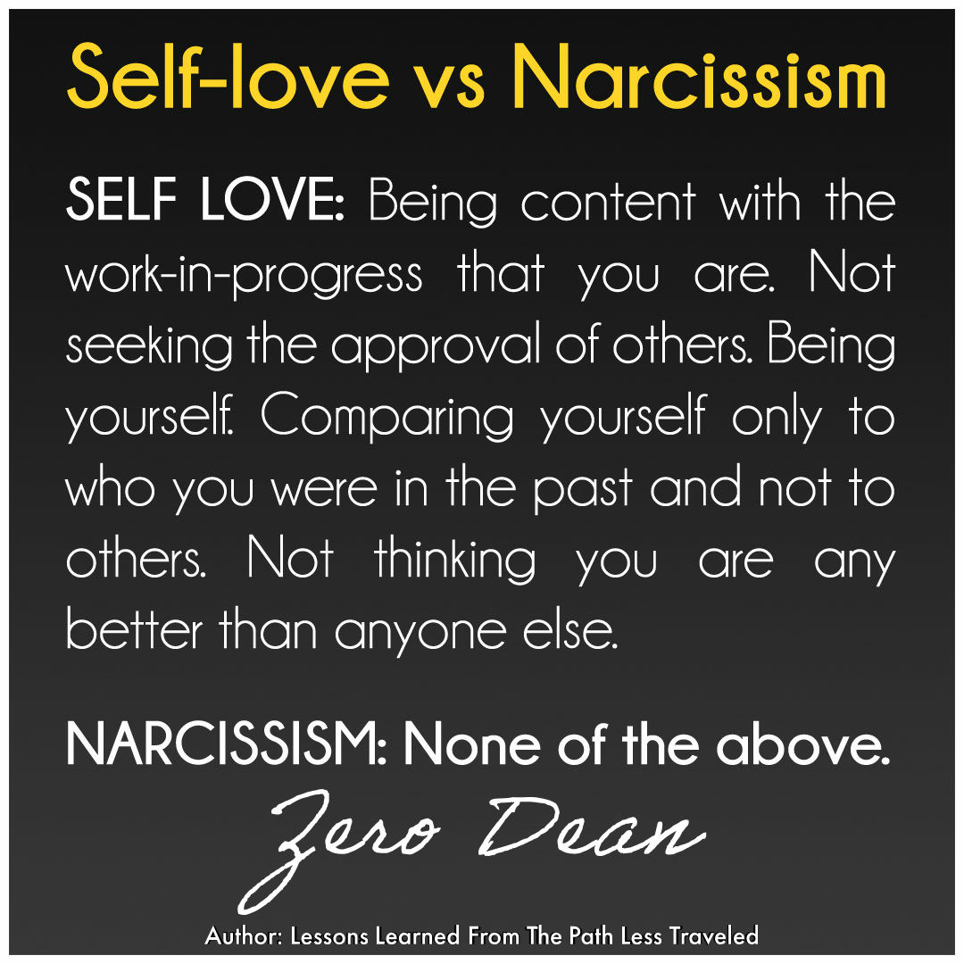 Self-love vs Narcissism