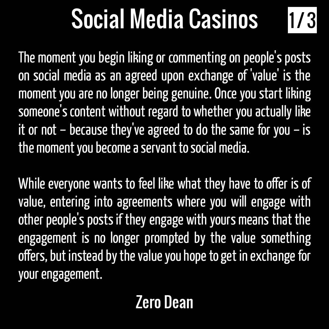 Social Media casinos