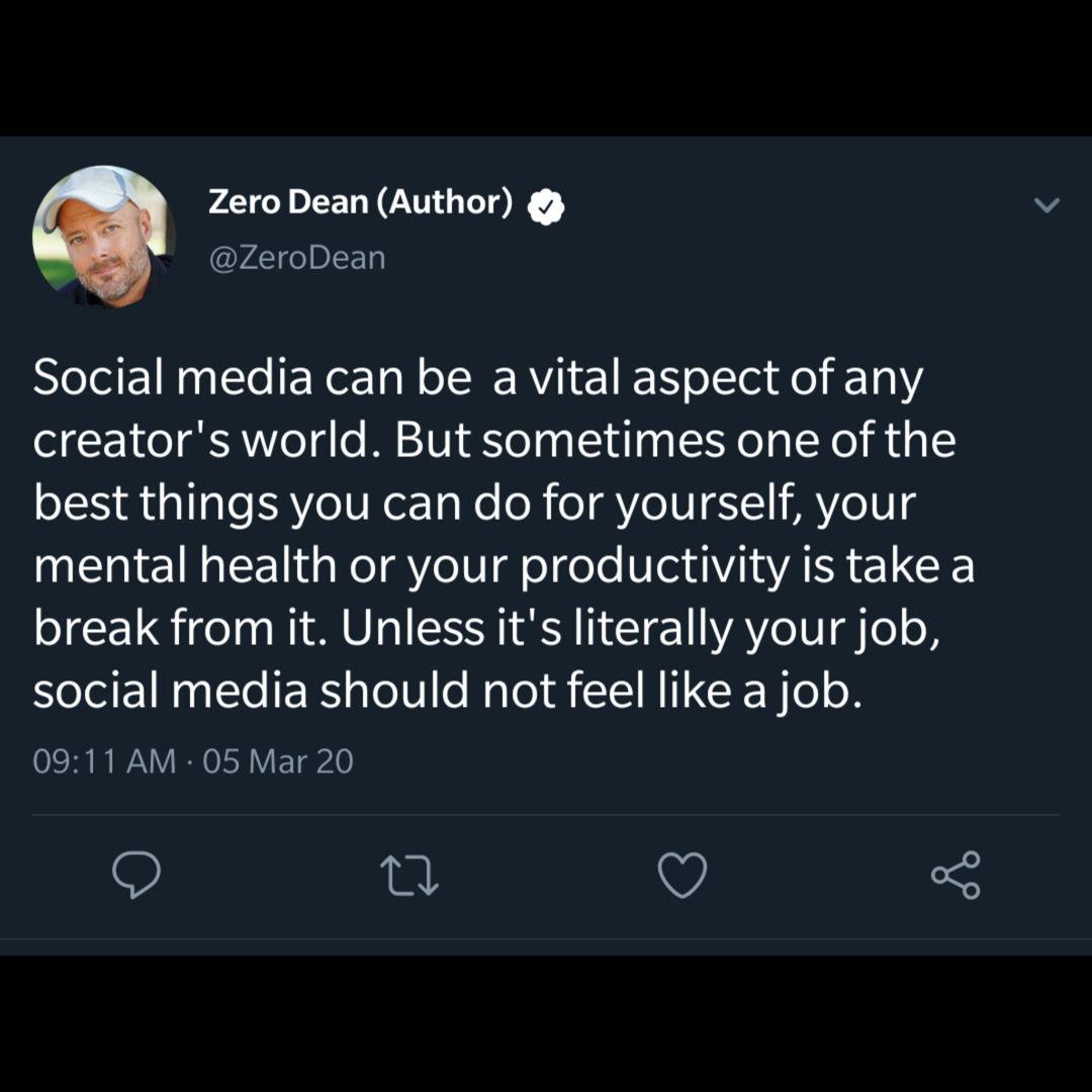 Social media should not feel like a job