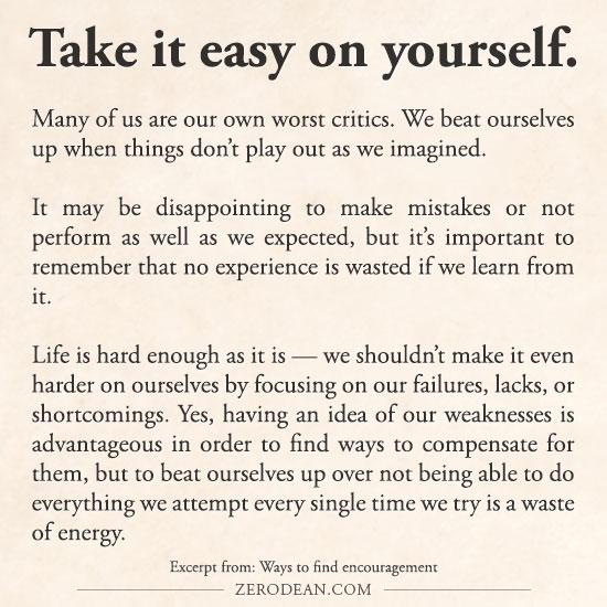 take-it-easy-on-yourself-zero-dean-pg