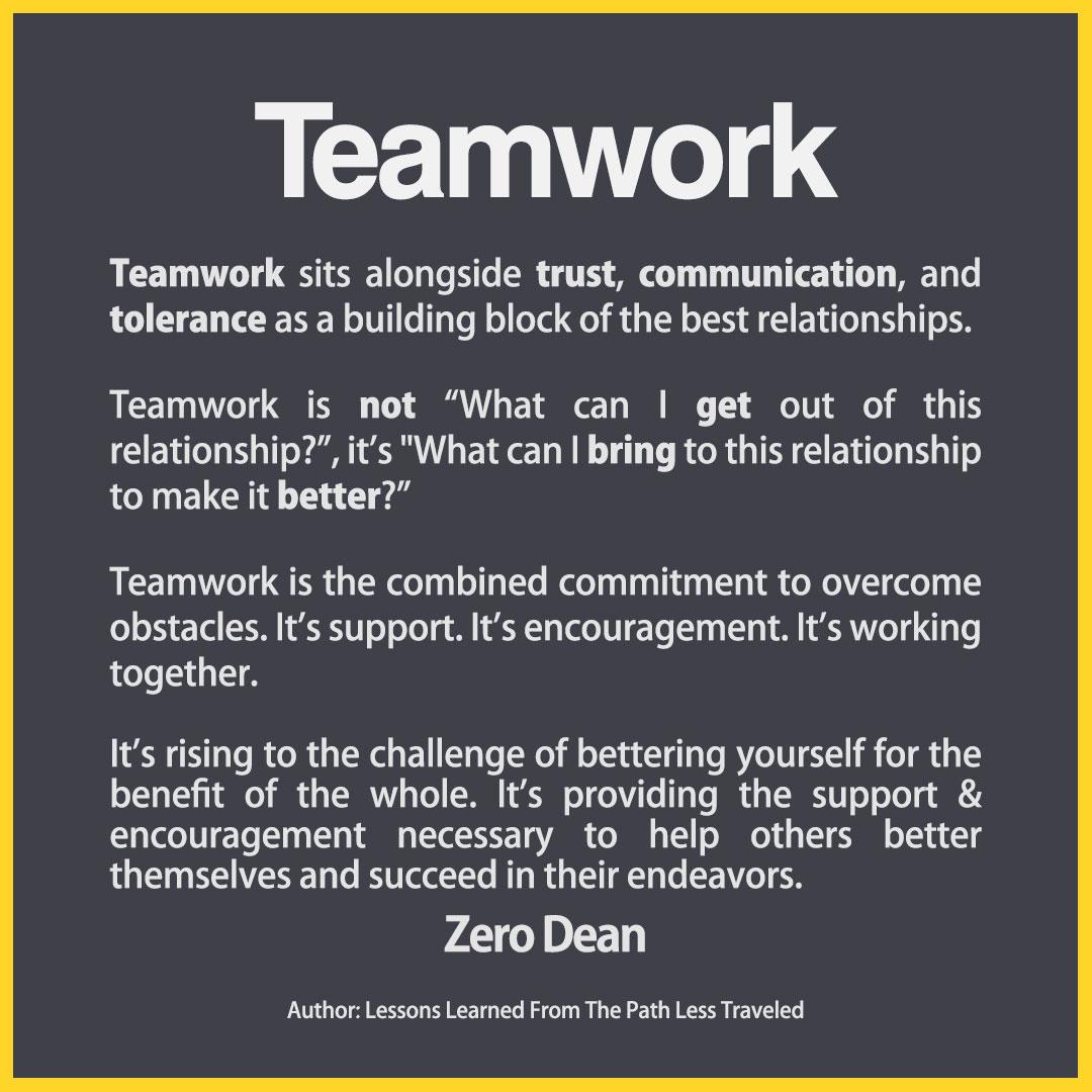 Relationships & teamwork