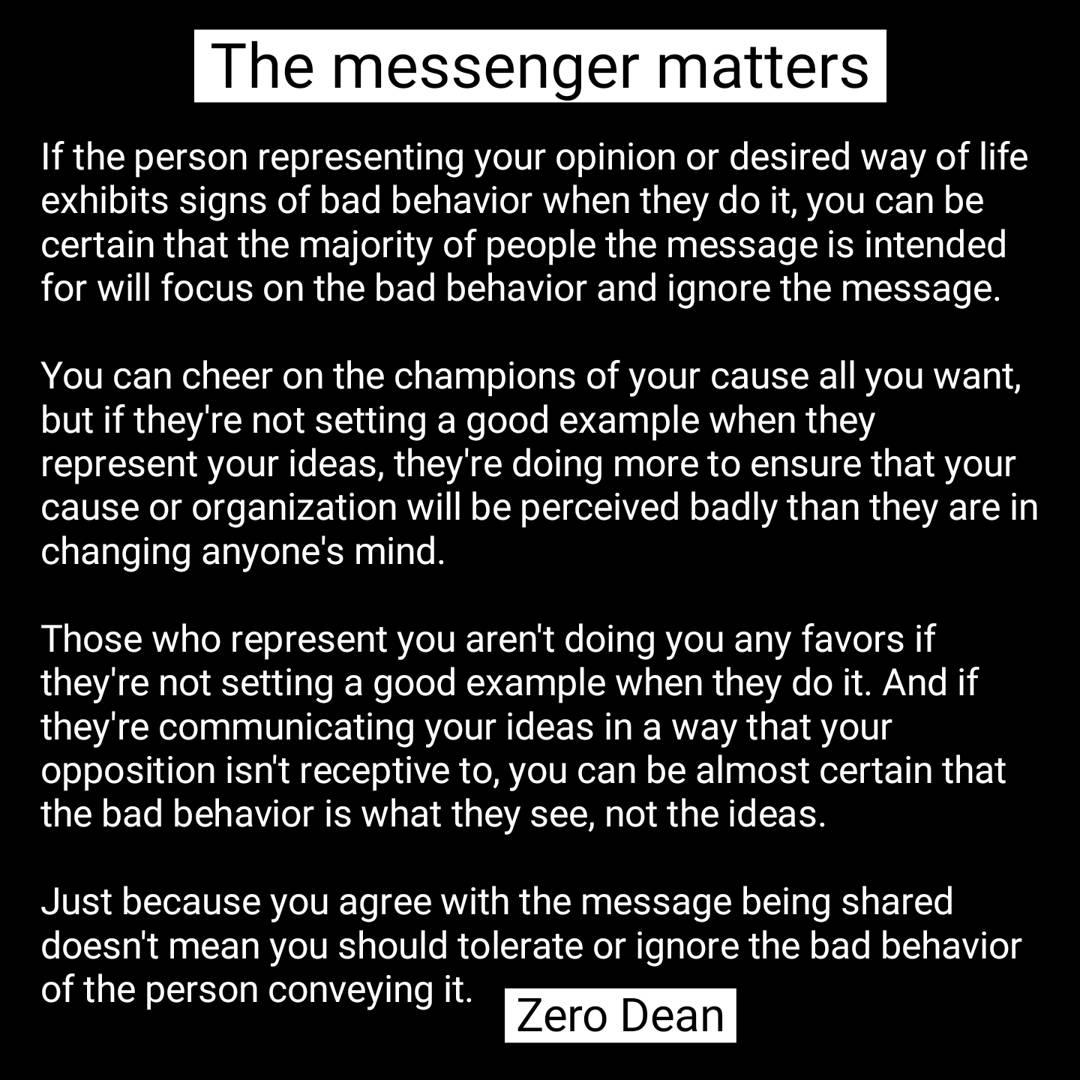 The messenger matters