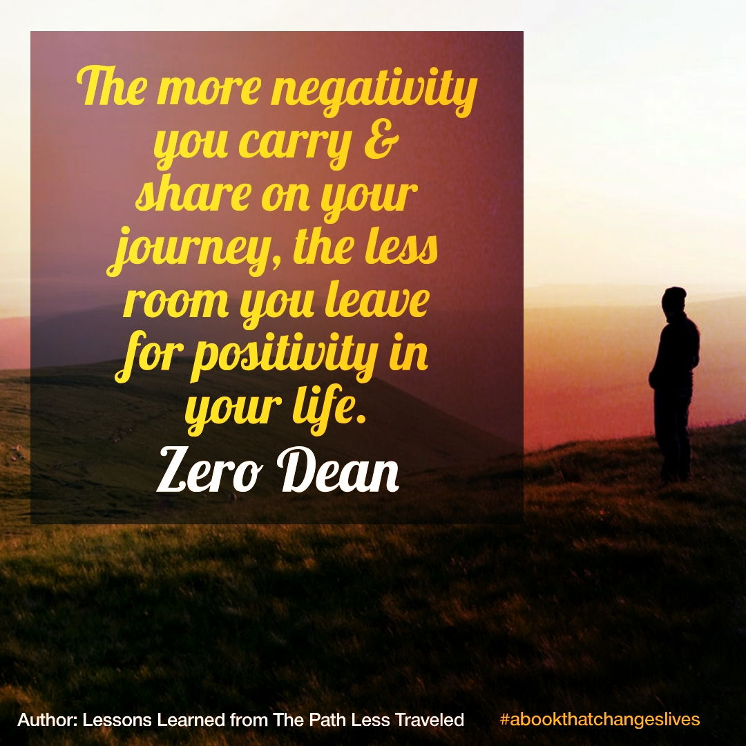Negativity is baggage