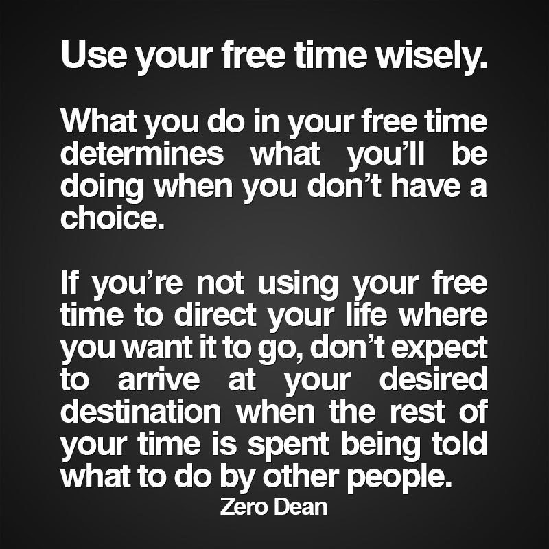 use-your-free-time-wisely-zero-dean