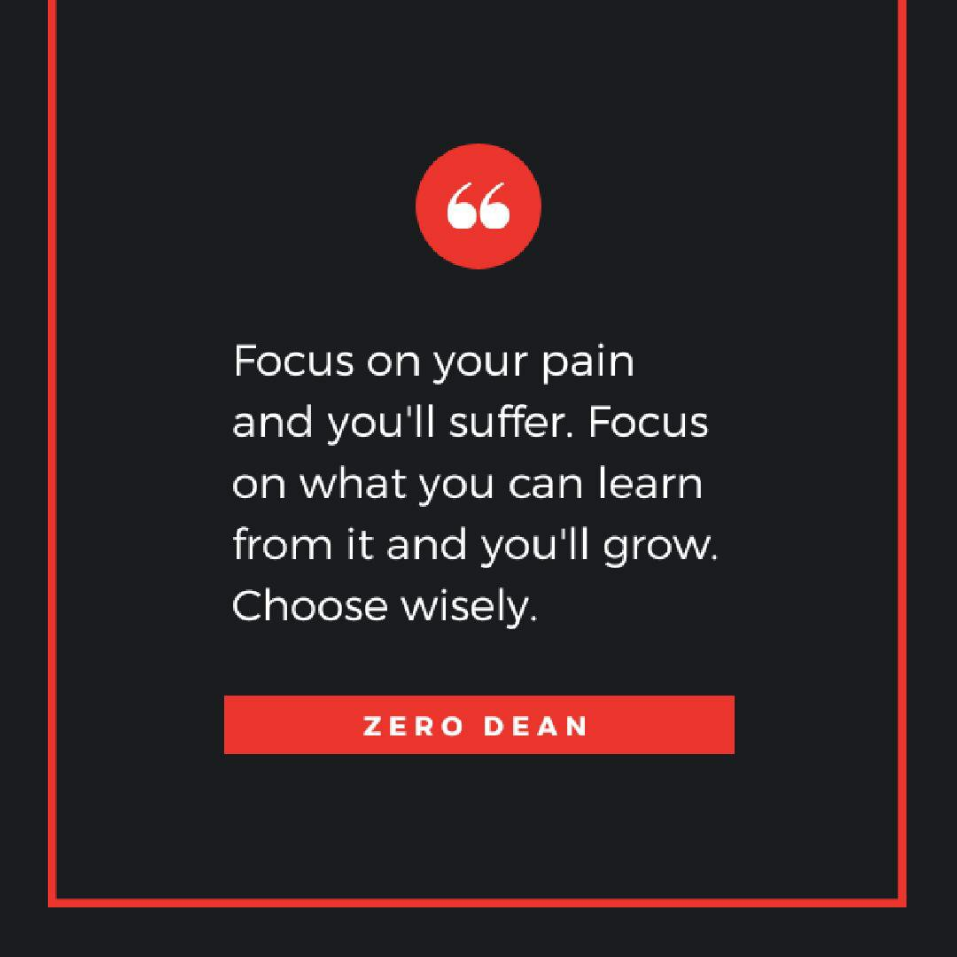 Focus on what you can learn