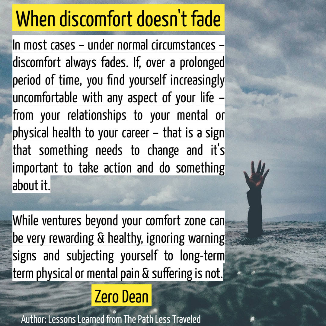 When discomfort doesn't fade