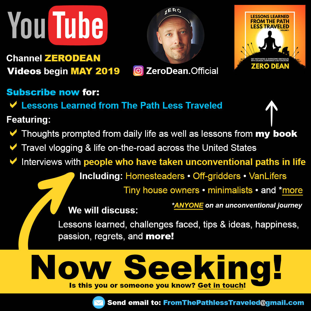 Now seeking people from the path less traveled!